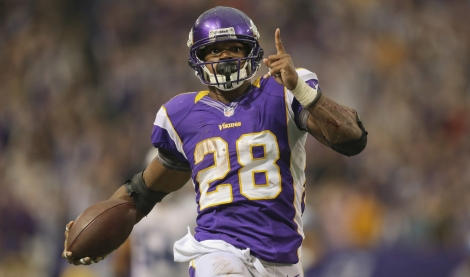 adrian peterson AP fantasy football star stud